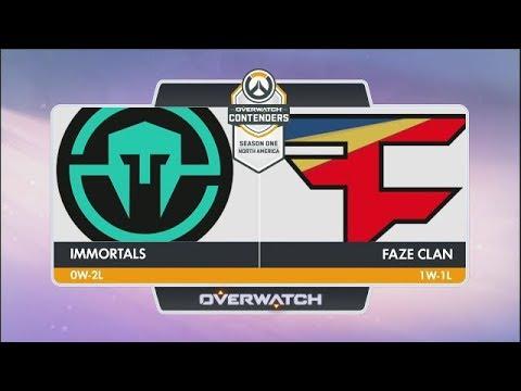 Immortals Vs FaZe Clan (Part 1) | OW Contenders Season One: North America