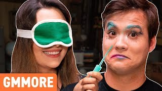 Blindfold Makeup Challenge w/ Safiya Nygaard & Tyler Williams