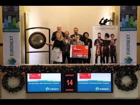 Winner Amsterdam Entrepreneur Award opens the exchange