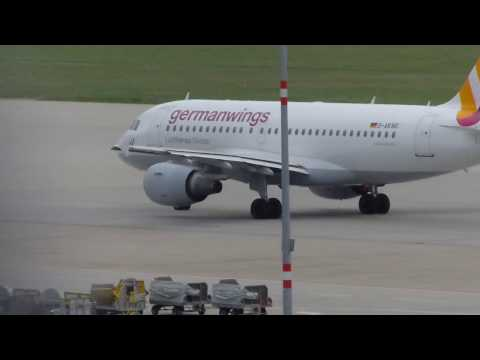 Germanwings Airbus A319-112 Taxi Out To From Stuttgart EDDS To Pristina