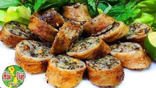 ✅ Làm Món Khấu Đuôi Nhồi Thịt Chiên Giòn Mà Đãi Khách Thì Miễn Chê   Hồn Việt Food