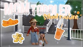 Mom and Toddler School Routine!♡ || Roblox Bloxburg || Fleurielle