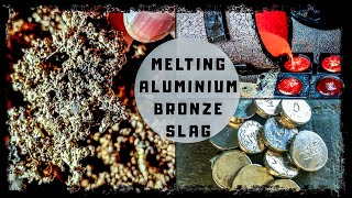 ALUMINIUM BRONZE SLAG MELTING - How Much Recovery From Remelting Old Slag - Casting Coin Blanks
