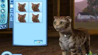 Demo of Create a Pet- The Sims 3 Pets- Cat