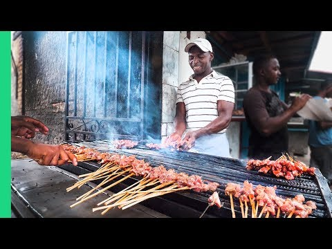 Street Food in Madagascar's Biggest City!!! Zebu Meat Heaven