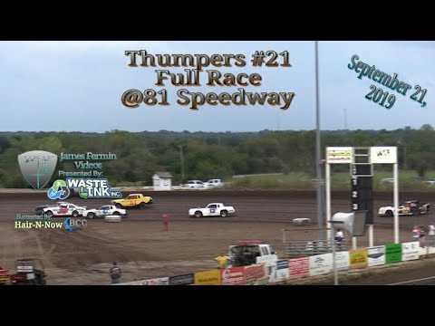 Thumpers #21, Full Race, 81 Speedway, 09/21/19