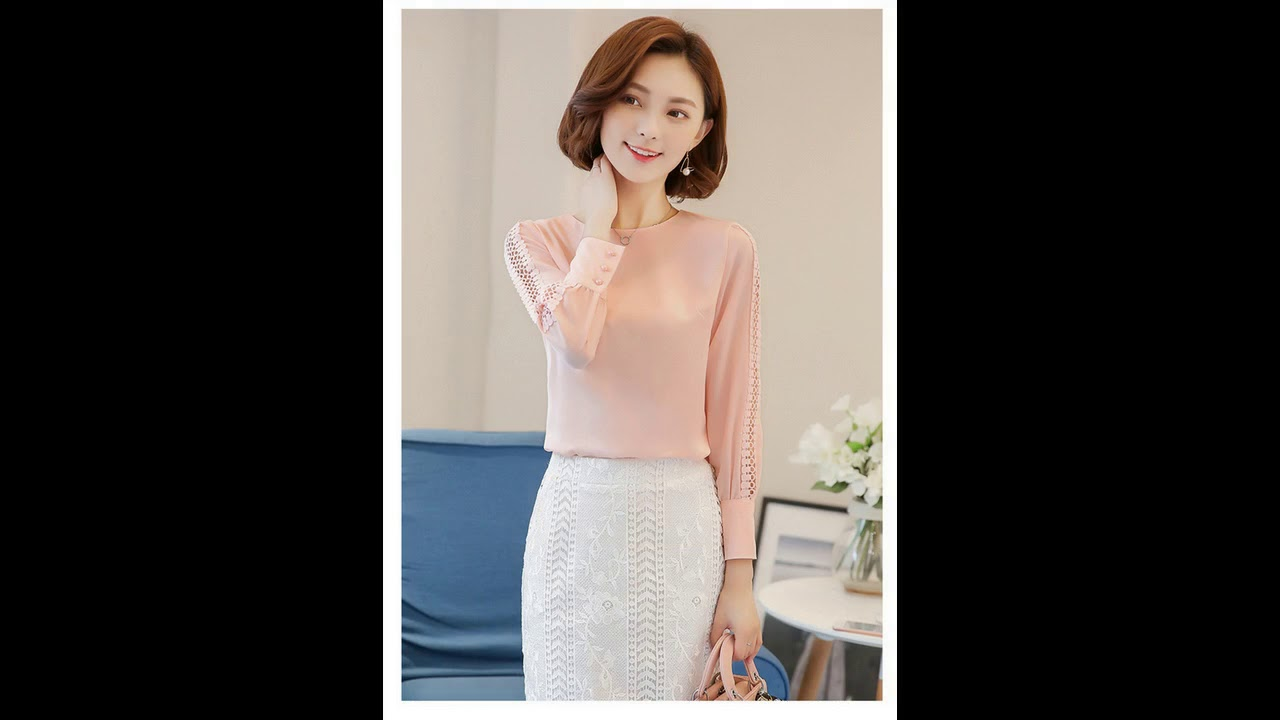 834900e2c5f28d VogorSean New Women Blouses Shirt Hollow Out Lace Blouse Tops For Shirt  Geometry Casual Go To Work B