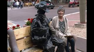 Bronze Cowboy's way of spreading laughter 85