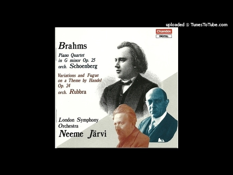 Brahms orch. Edmund Rubbra : Variations & Fugue on a theme by Handel Op. 24 (1861 orch. 1938)