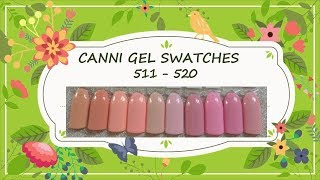 Canni Gel Paint Swatches 511 - 520