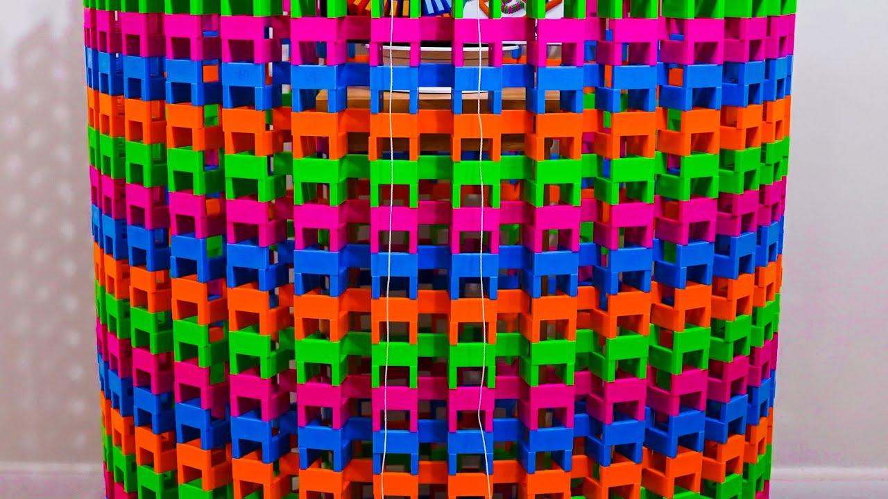 Toppling a Huge Domino Colosseum! | Day 8-14 of #30DayDominoChallenge