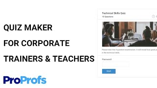 Create online tests using ProProfs Quiz Maker