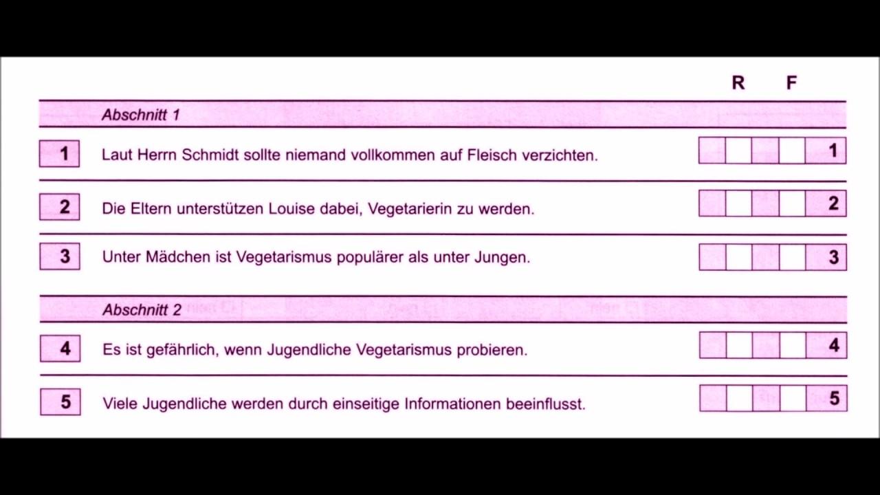 ösd Mittelstufe Deutsch B2 Hören Teil 1 Modell 3 Mit Lösungen Youtube