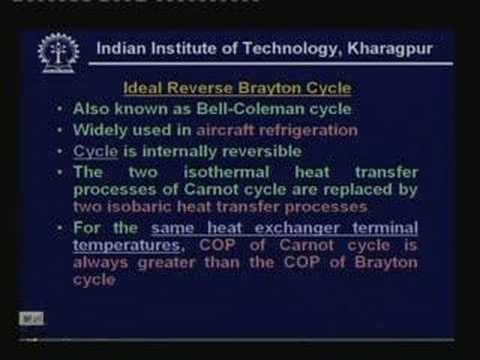 Lecture -9 Air Cycle Refrigeration Systems