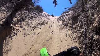 widowmaker hillclimb attempt on dirt bikes