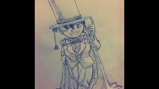 Drawing Detective Conan 名探偵コナン描いてみた (Kaitou Kid)