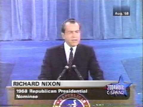 1968 Richard Nixon Republican Convention Acceptance Speech