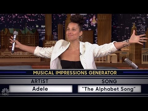 Alicia Keys Slays Impressions of Adele & Gwen Stefani on the Tonight Show