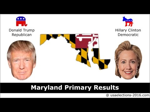 Maryland Primary Result 2016 : US Election 2016