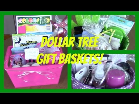 DIY Dollar Tree Gift Baskets | 4 Affordable Gifts!