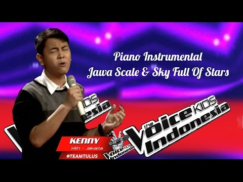 """Kenny """"Sky Full Of Stars""""   Piano Instrumental   The Voice Kids Indonesia GlobalTV 2016"""