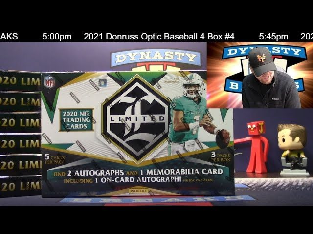 2020 Limited Football Card 7 Box Half Case Break #10   Sports Cards