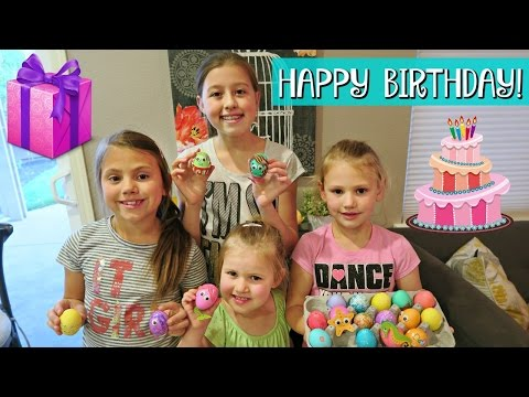 GRETCHEN'S 4th BIRTHDAY | DYING EASTER EGGS & OPENING PRESEN