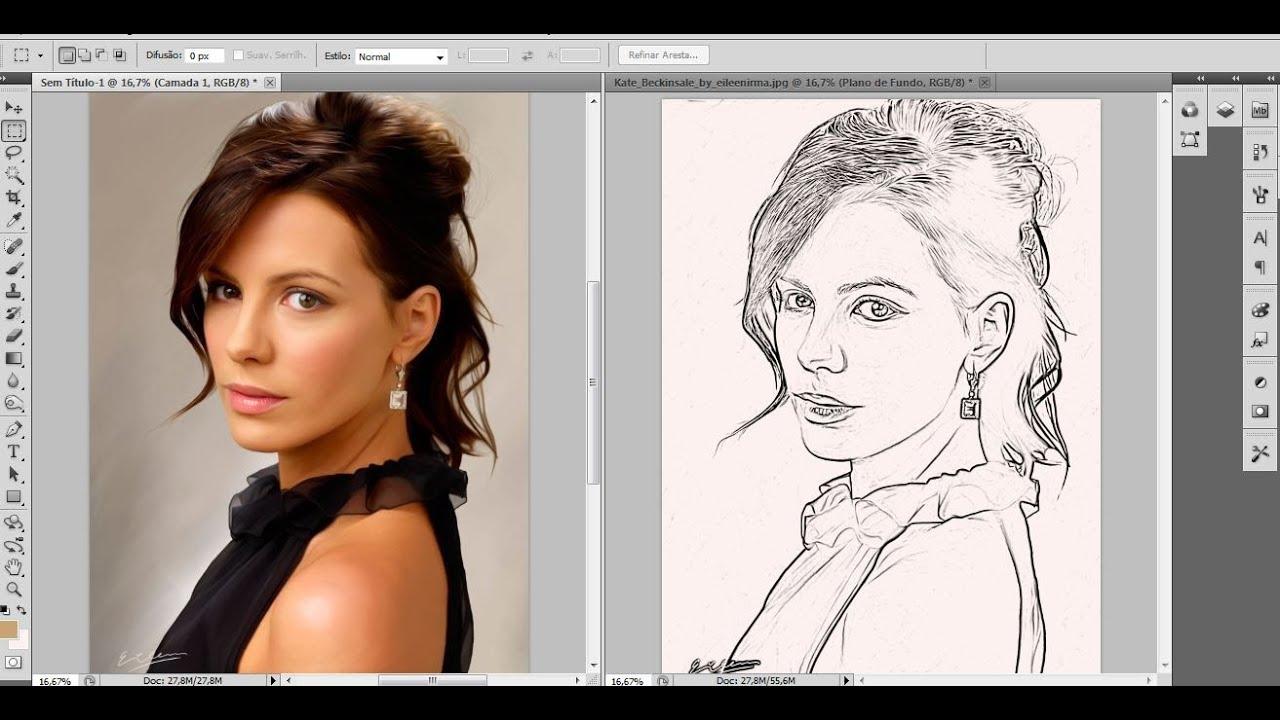 Transformando foto em desenho photoshop online 42