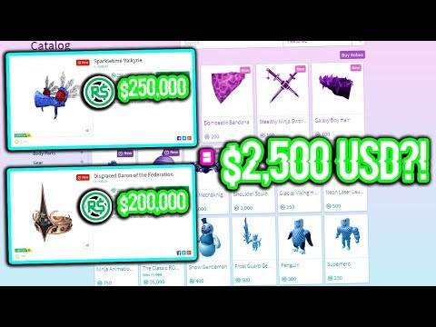 THESE NEW ROBLOX ITEMS COST MORE THAN $2,500 USD?!