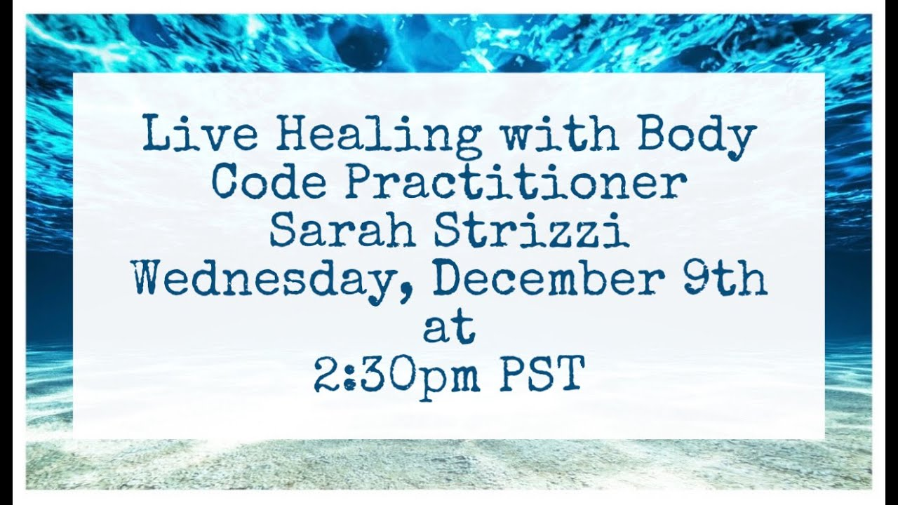Live Healing with Sarah Strizzi