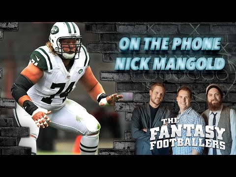 Nick Mangold of the Jets, Week 1 Listener Questions - The Fantasy Footballers