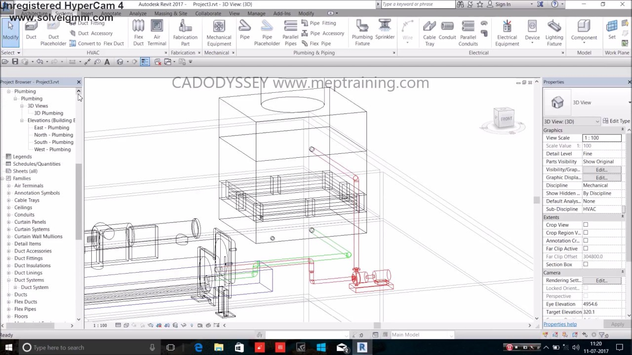 Modeling Of Chiller Piping System In Revit Mep Youtube Hvac Drawing Company