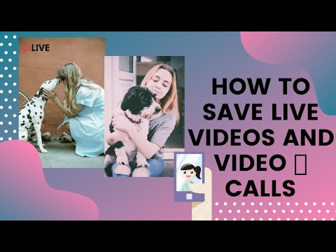 how to save facebook video call