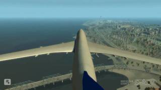 GTA IV riding a plane and jumping off!