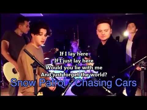 Ed SheeranShape Of You SING OFF Conor Maynard vsThe Vamps Lyrics on screen