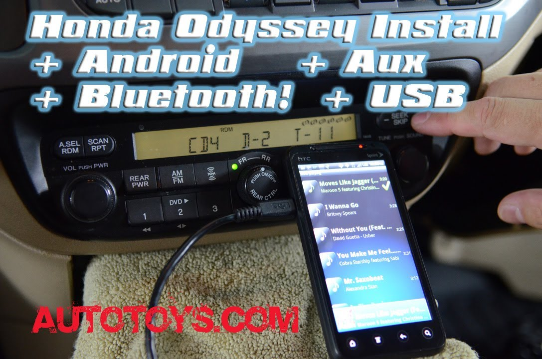 [SCHEMATICS_48IS]  Honda Odyssey ANDROID & BLUETOOTH, with USB, IPOD and AUX MP3 by GROM  AAlinq and AUTOTOYS.COM - YouTube | 2007 Honda Odyssey Aux Wiring |  | YouTube