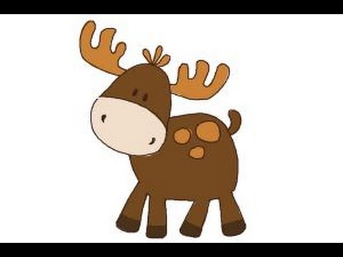 How to draw a moose for kids youtube how to draw a moose for kids thecheapjerseys Images