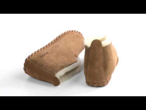 Acorn Sheep Bootie Slippers - Sheepskin (For Men)