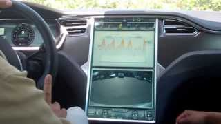 Test Driving a TESLA MODEL S! AWESOME!!!!!