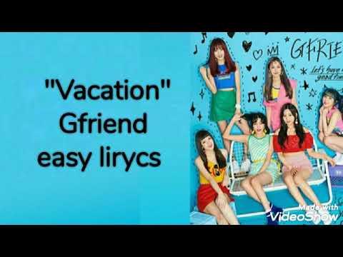 """Vacation"" (GFRIEND) easy lirycs - YouTube"