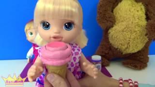 Video Yeni oyuncak Baby Alive dondurma yiyen bebeğim Maşa ile koca ayı çizgi film tadında download MP3, 3GP, MP4, WEBM, AVI, FLV November 2017