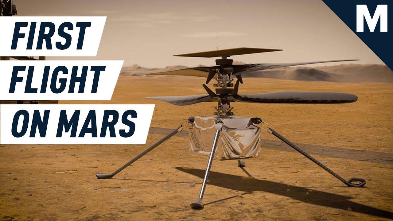 Watch NASA's Ingenuity Helicopter Make History on Mars | Mashable - Mashable