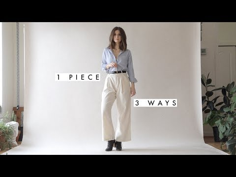 1 Shirt - 3 Outfits | How To Style Button Down Shirt X Everlane