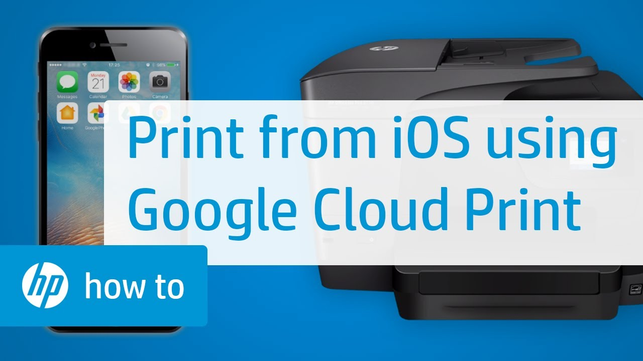how to print on an hp printer from an ipad or iphone using