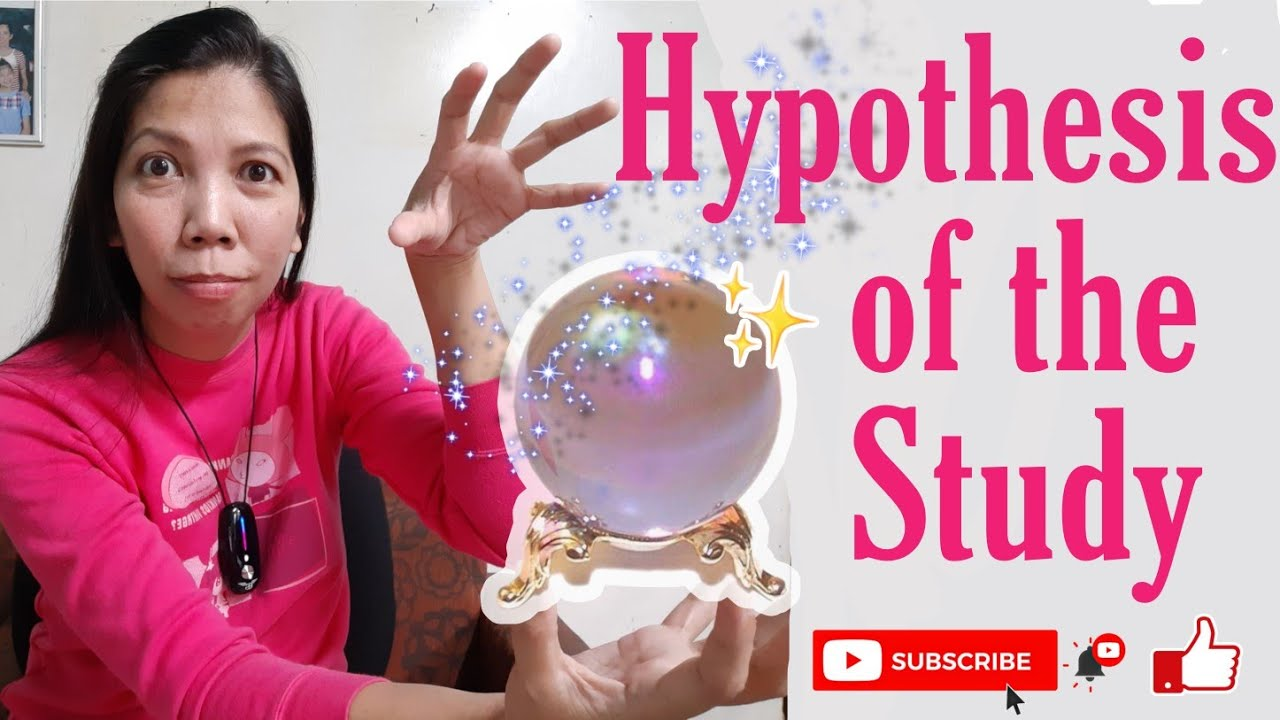Download HOW TO WRITE HYPOTHESIS OF THE STUDY