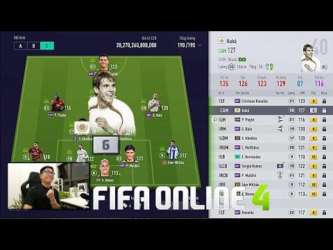FIFA ONLINE 4: Trải Nghiệm KAKA ICON +6 Cầu Thủ ĐẮT GIÁ NHẤT Server VN & Đi Chợ Xây Team Pháo Thủ