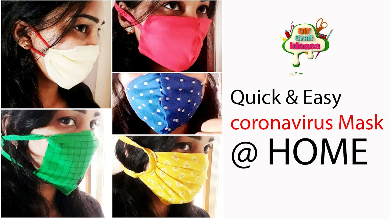 How to protect from the corona virus |5 Quick & Easy corona virus Masks NO SEW|Emergency mask@ H