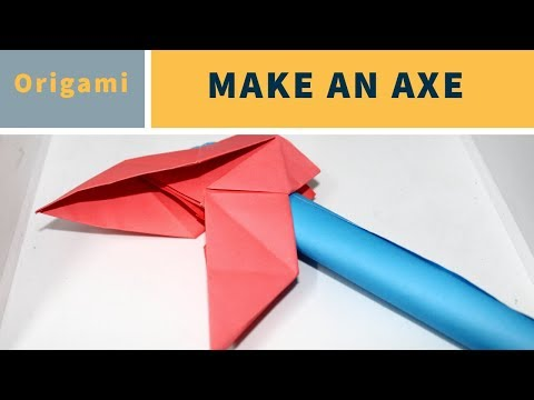 How to Make a Paper Battle Axe | Easy Tutorial
