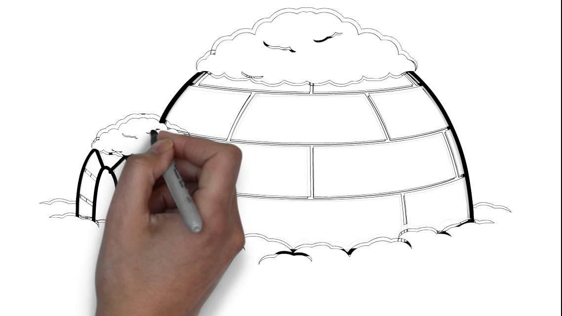 Cómo dibujar un iglú - YouTube