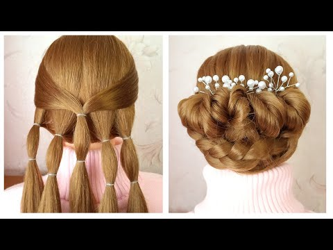 Tuto coiffure soirée/mariage | Beautiful bun hairstyle for wedding party function step by step thumbnail
